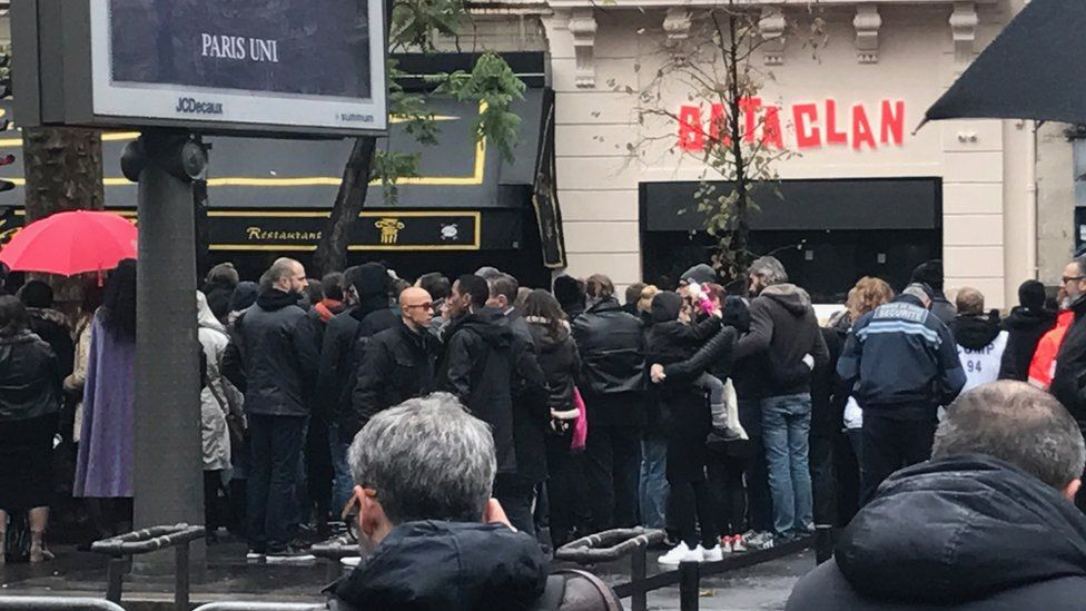The Bataclan music hall in Paris, which re-opened in November 2016, a year after a deadly attack at the venue