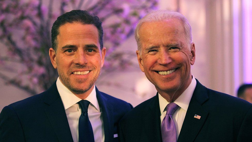 Hunter Biden and Joe Biden photographs together in 2016