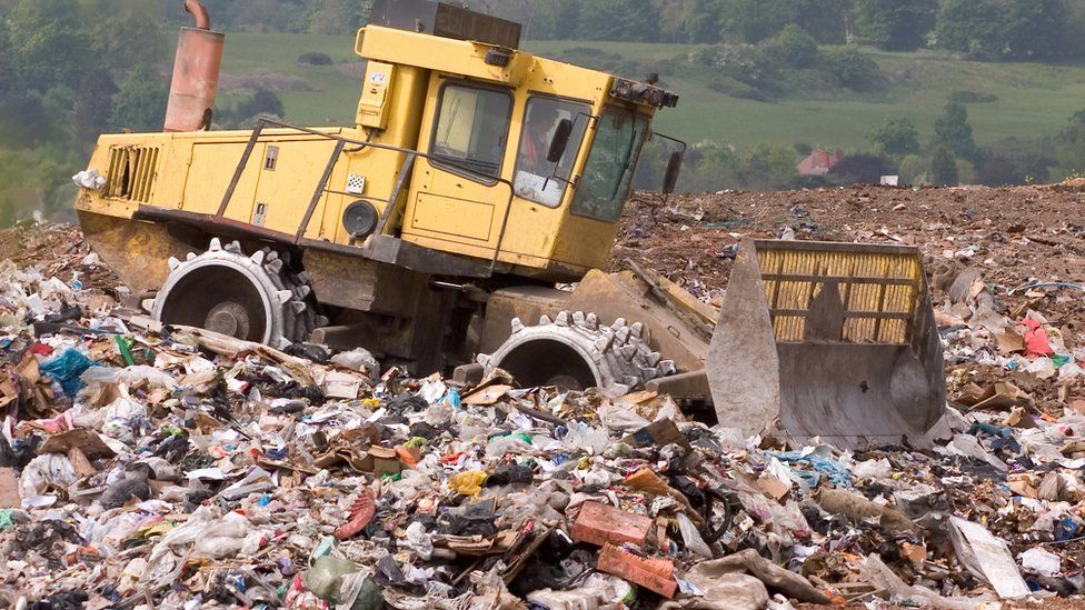 A landfill site