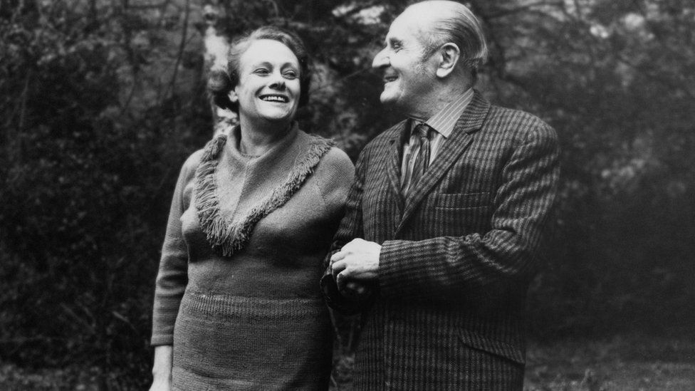Houghton, then aged 65, and Gee, then 56, pictured in 1970