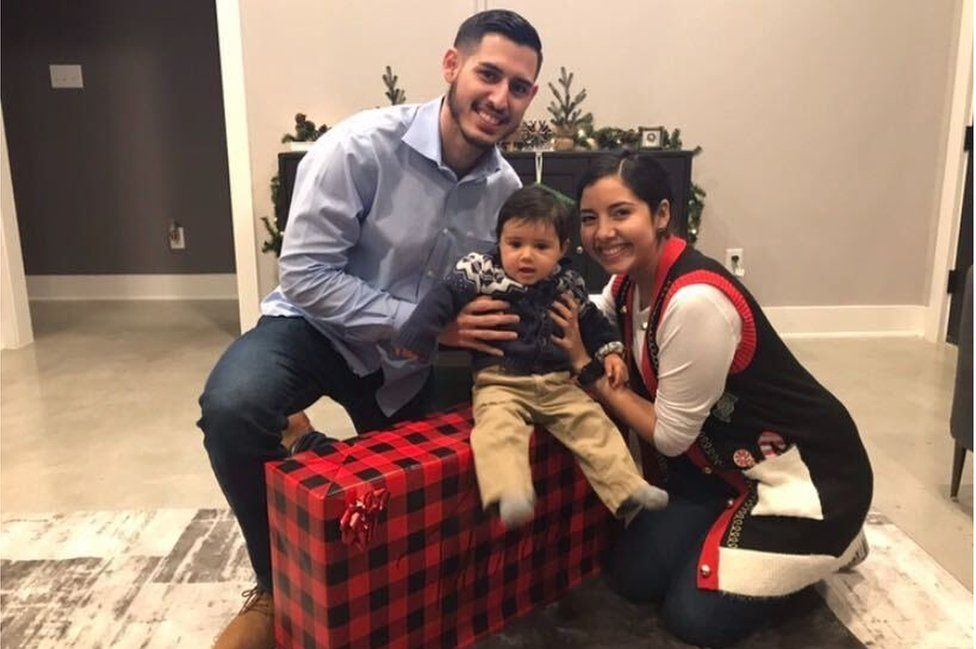 Sergio Roel and his family