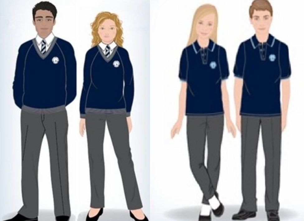 The new uniform at Priory School, Lewes