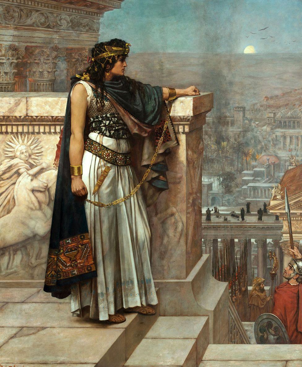 Zenobia's last look on Palmyra, 1888. Artist: Schmalz, Herbert Gustave