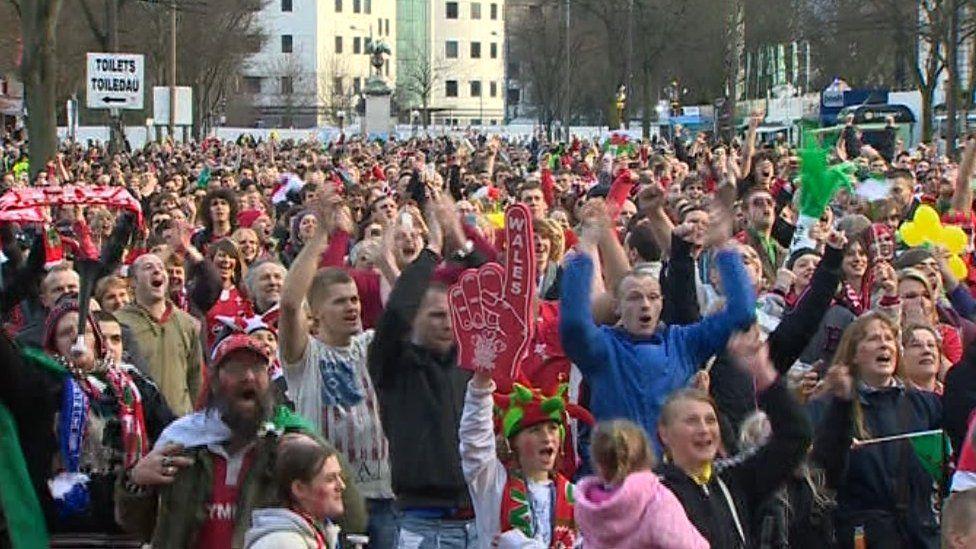 Welsh fans in 2012