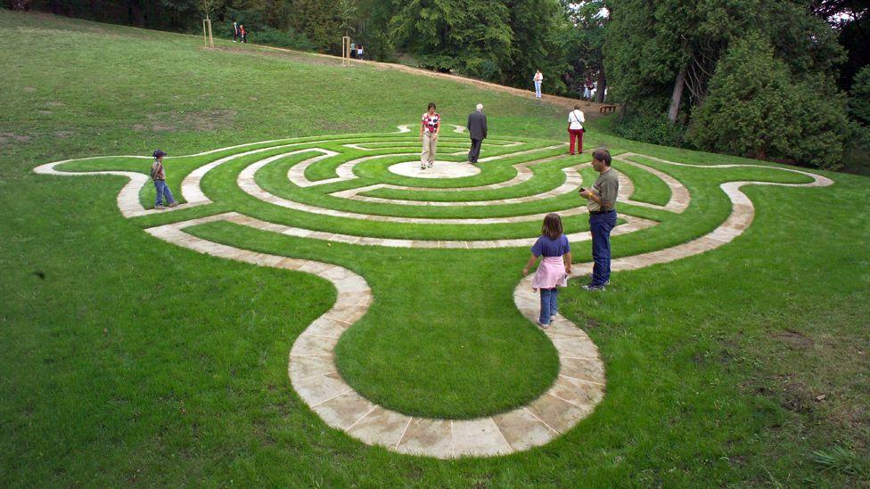 Castle Loucen Stone Path Maze in the Czech Republic