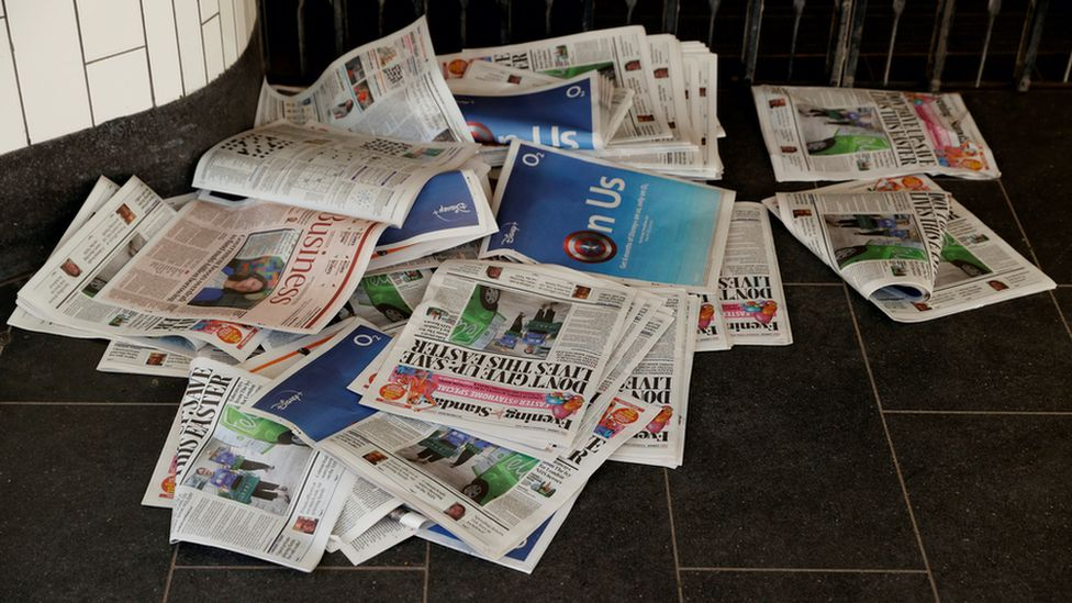Free newspapers relying on commuters have been hit hard by the pandemic