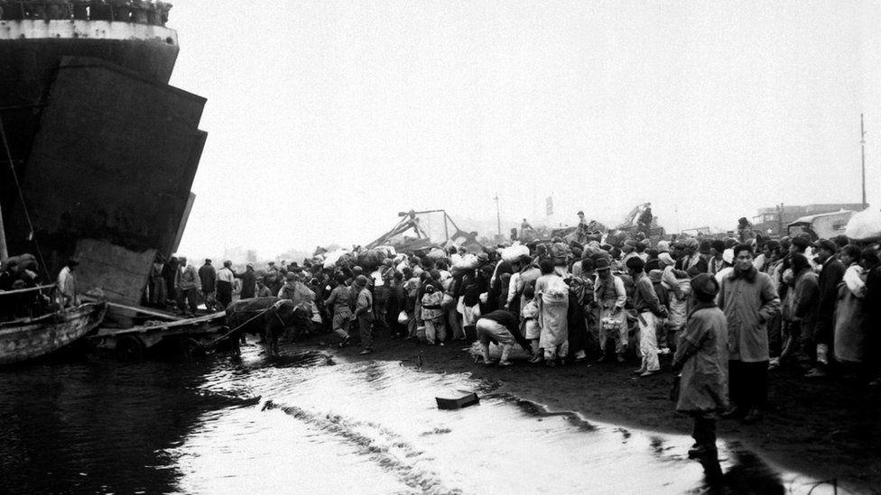 Refugees at Hungnam, December 1950