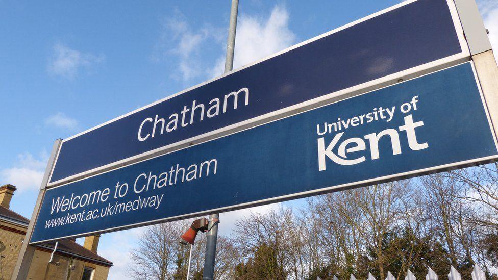 Chatham train station sign