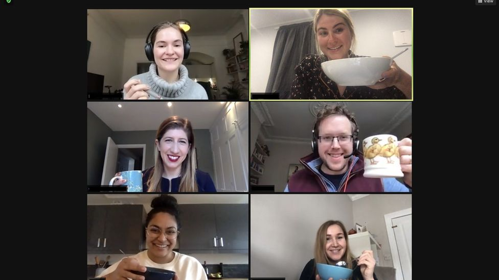 """Wealthsimple staff having a """"Zoom lunch"""""""