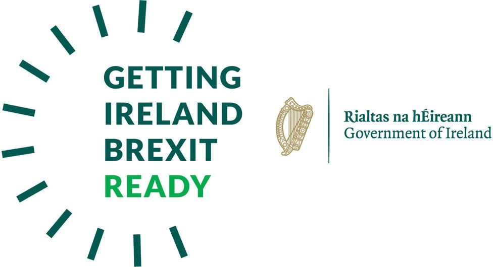 The logo of the Irish government's Getting Ireland Brexit Ready campaign