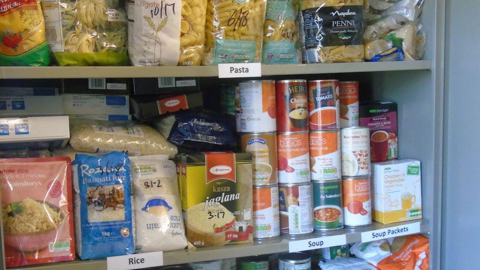 Food bank cupboard