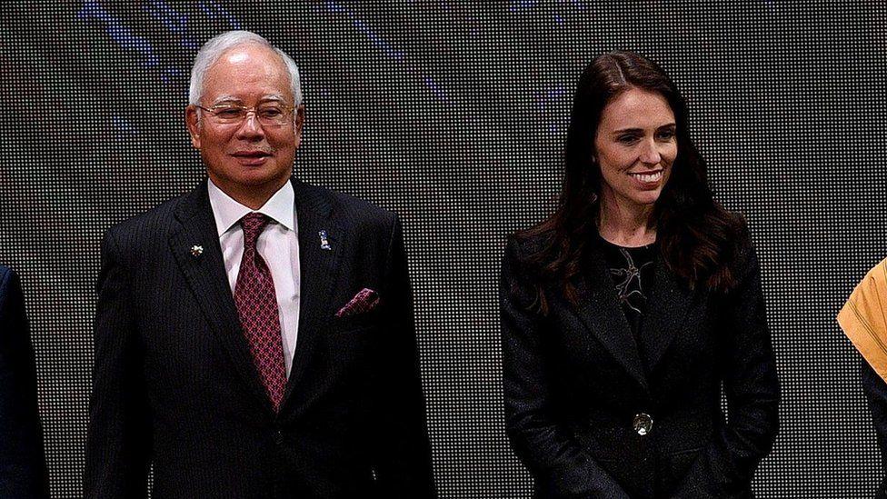 Malaysian PM Najib Razak and New Zealand PM Jacinda Ardern