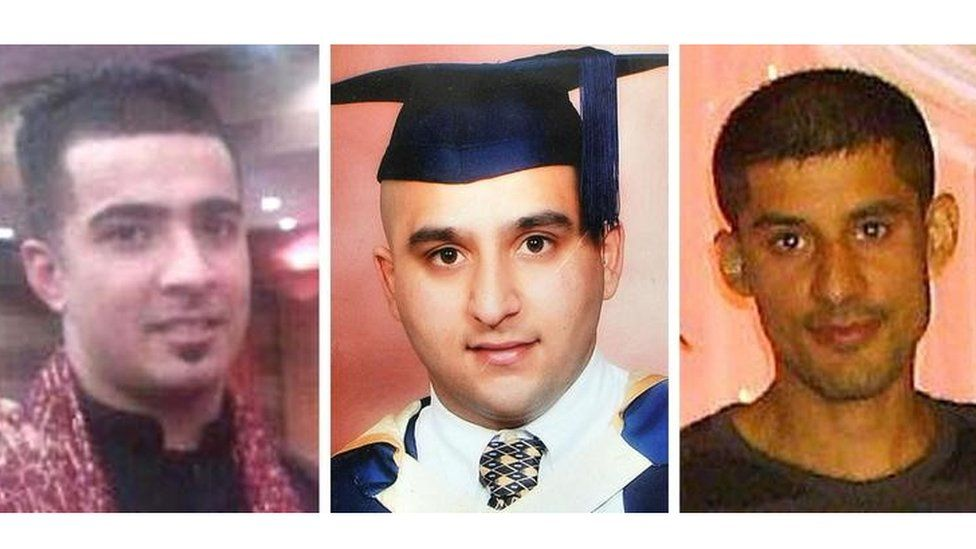 Haroon Jahan, Shazad Ali and Abdul Musavir (L-R)