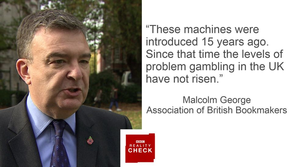 Malcolm George saying: These machines were introduced 15 years ago. Since that time the levels of problem gambling in the UK have not risen.