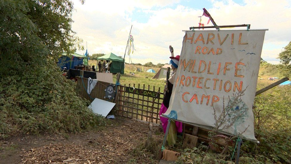 Protest camp at Harefield