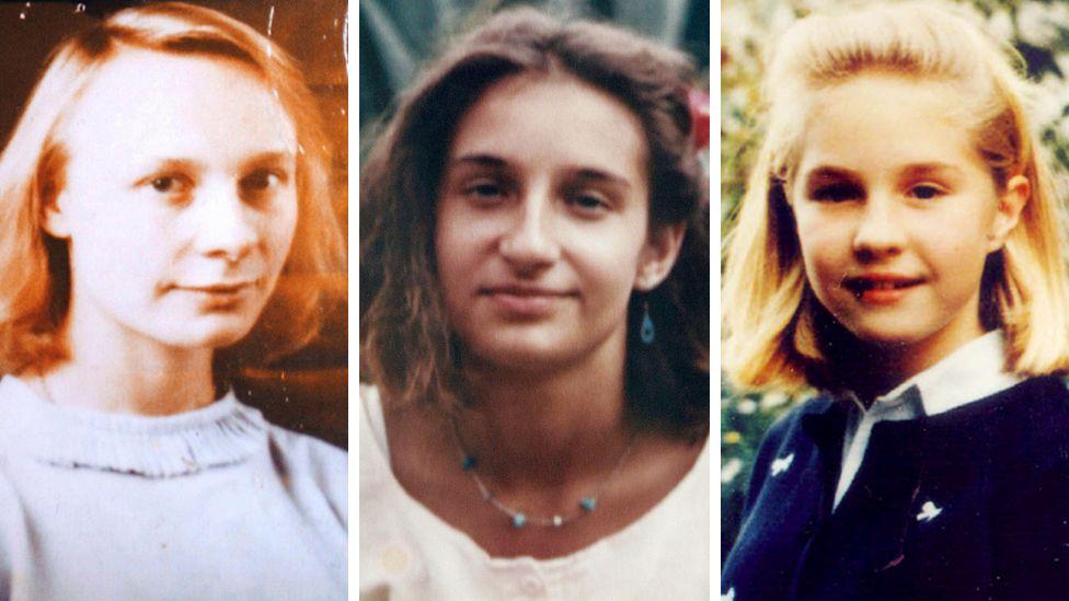Murder victims (from left) Jeanne-Marie Desramault, Fabienne Leroy and Elisabeth Brichet