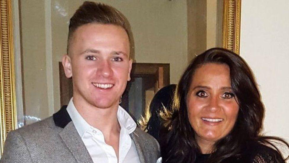 Corrie Mckeague with his mother Nicola Urquhart