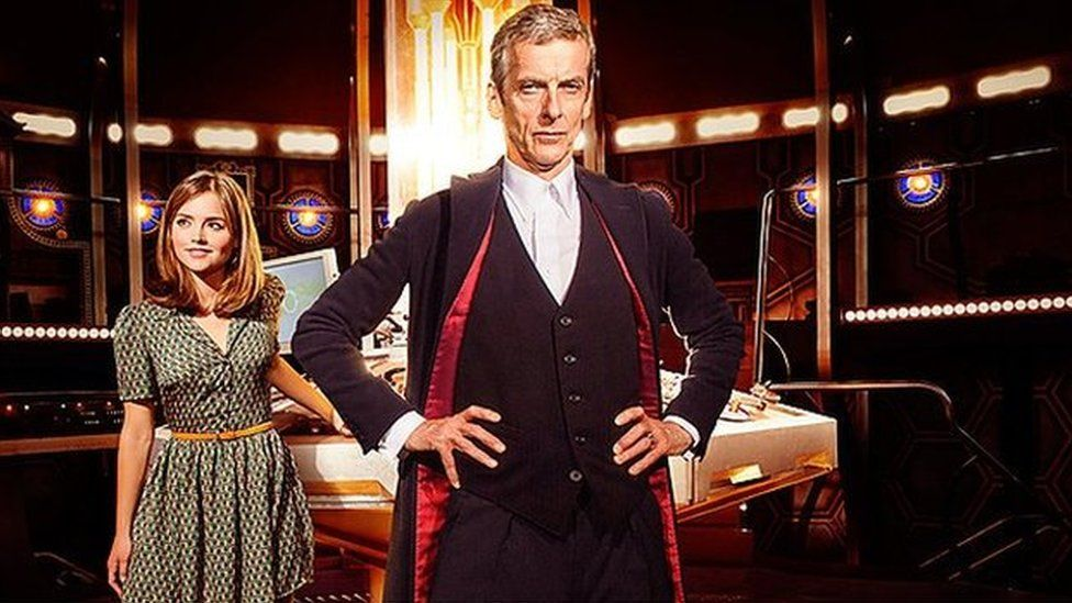 Jenna Coleman and Peter Capaldi in Doctor Who