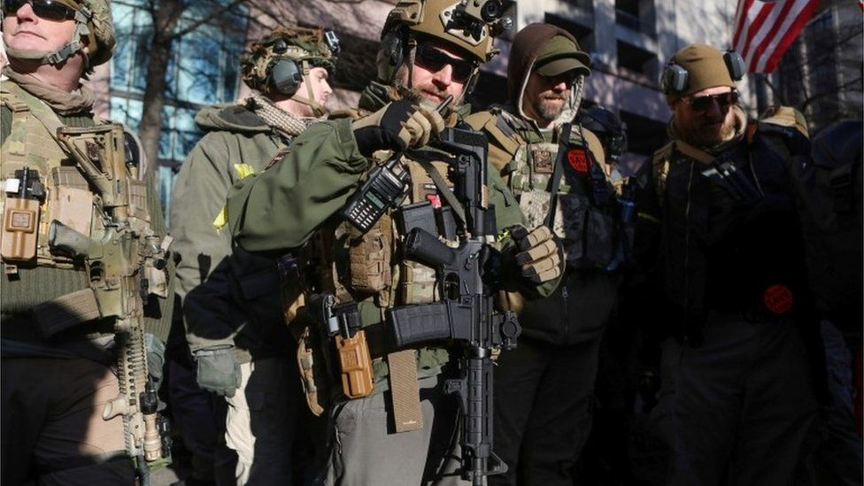Pro-gun rally in Virginia, 20 January 2020