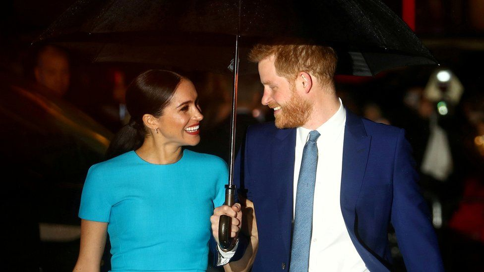 Prince Harry and his wife Meghan, Duchess of Sussex