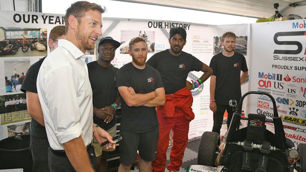 Jenson Button at Formula Student