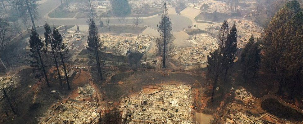 California wildfires: Thanksgiving hope from ashes of