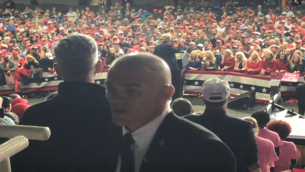 A promotional video on the Silvercorp website appears to show Goudreau working in security at a Trump rally