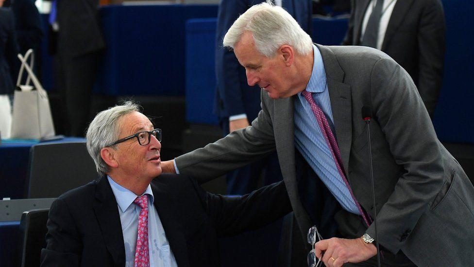 Jean-Claude Juncker and Michel Barnier - 17 May