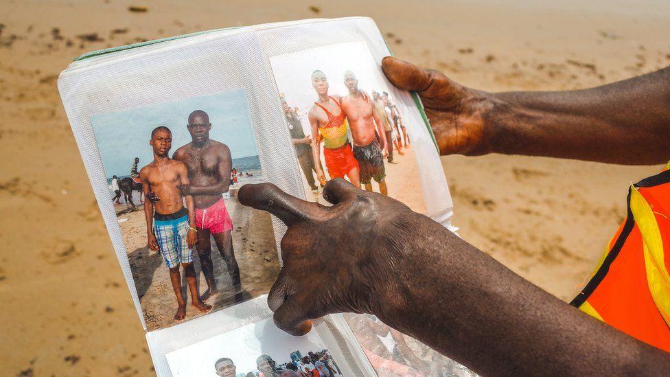 Lagos lifeguard Samuel Omohon shows album he keeps, Nigeria