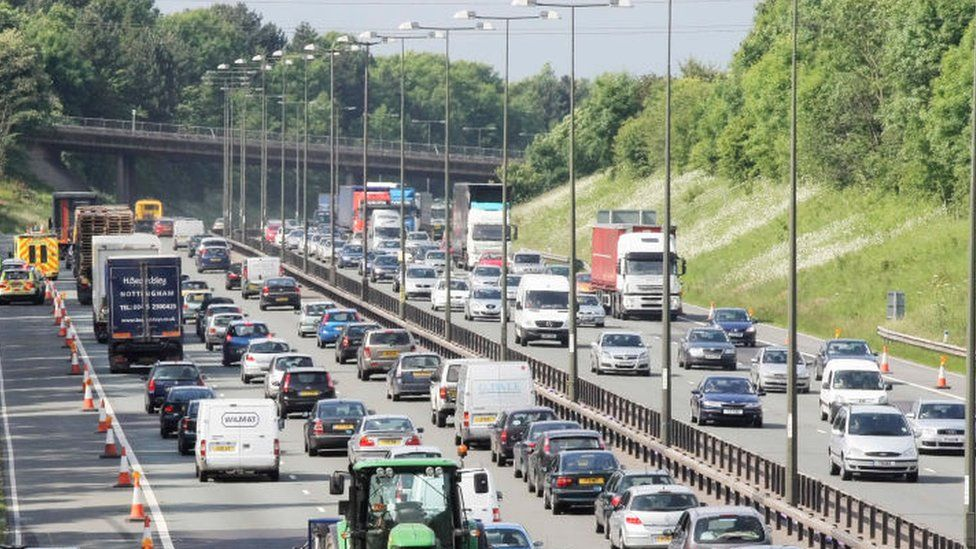 M1 J25 to J28 widening project, England