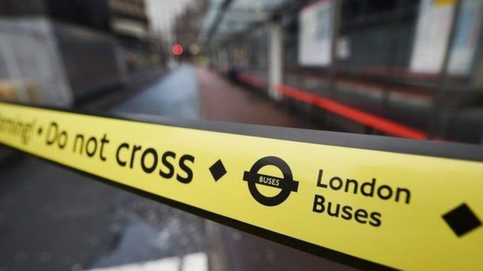 Closed bus stops at Victoria