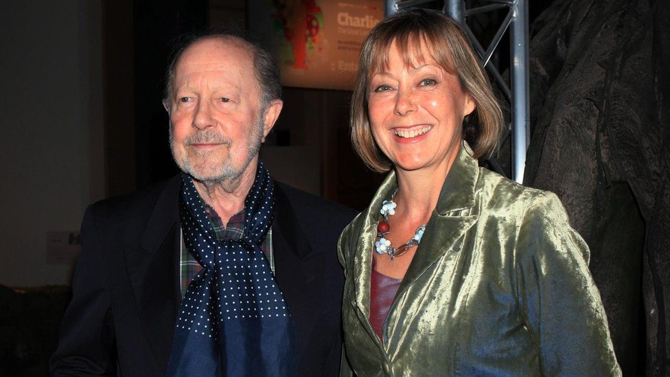 Roeg in 2010 with Jenny Agutter, whom he worked with on the film Walkabout