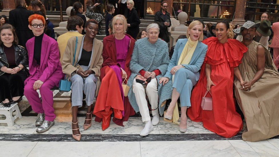 The front row at Roksanda's 2020 London Fashion Week show, hosted at the Foreign and Commonwealth Office