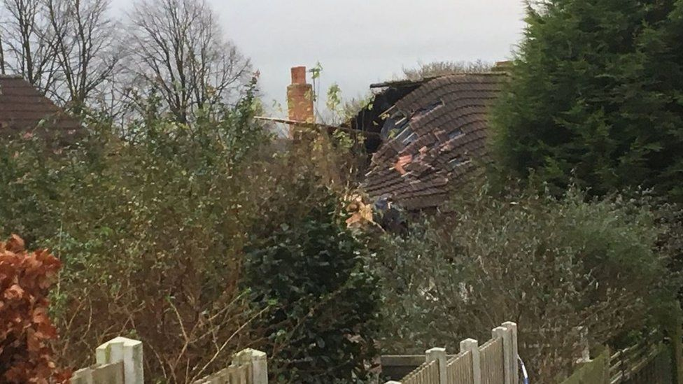 Roof of house in Tinshill