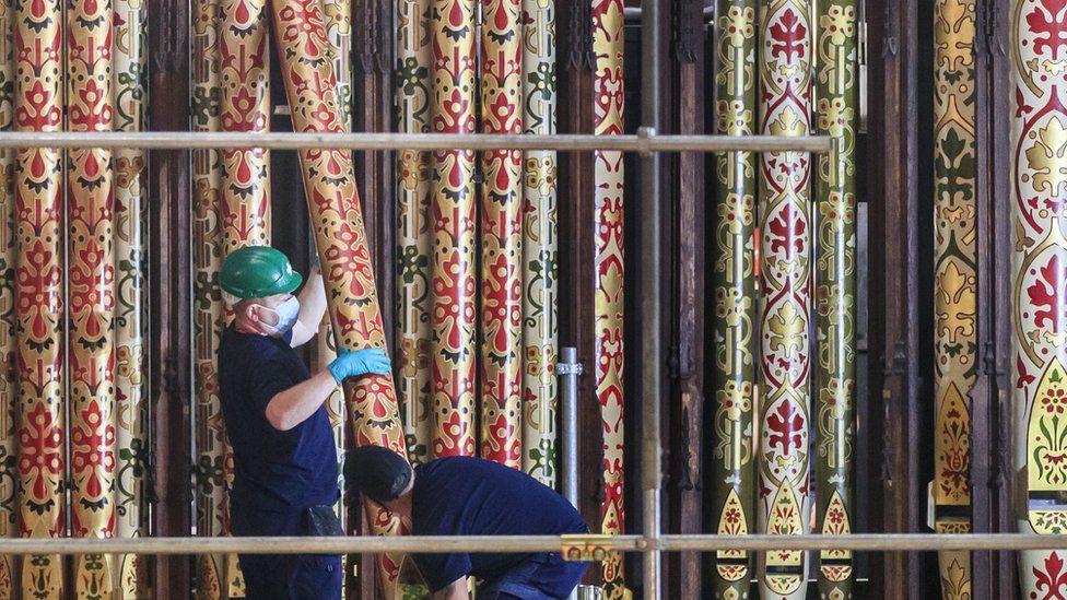 York Minster organ pipes