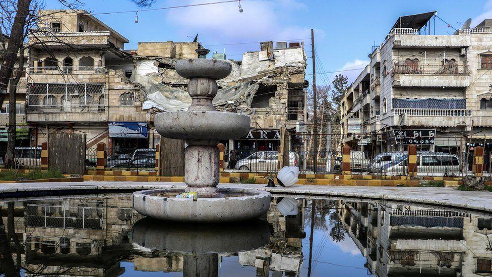 General view of Manbij in northern Syria (31 December 2018)