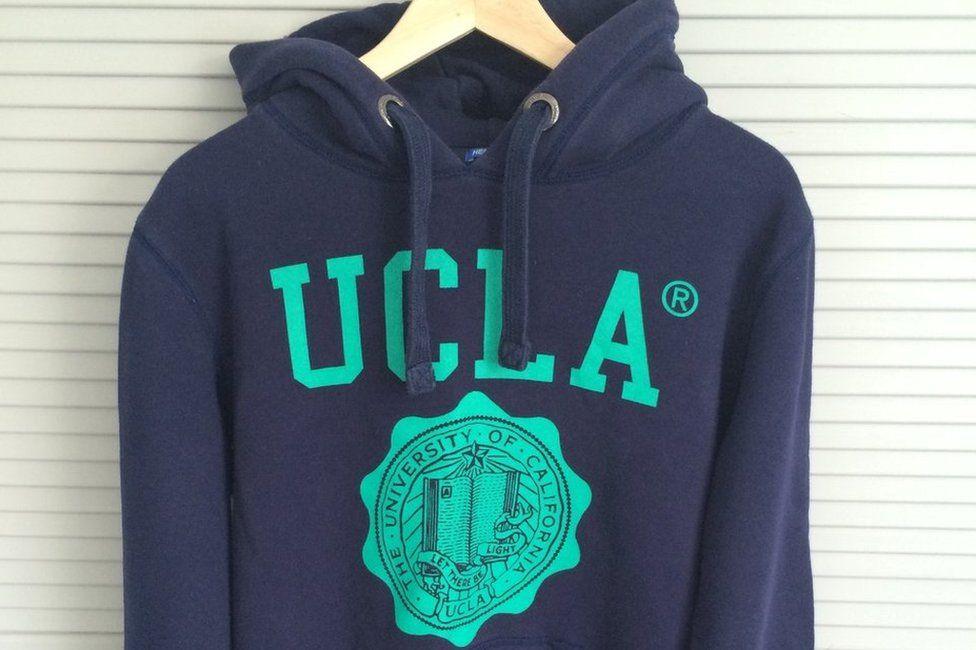 Blue hoodie with UCLA logo