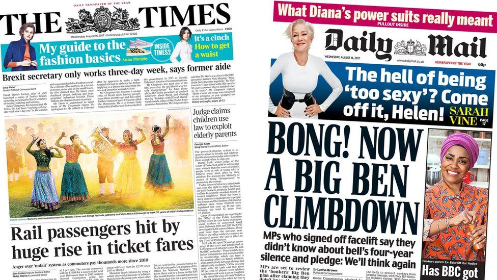 Times/Mail front pages