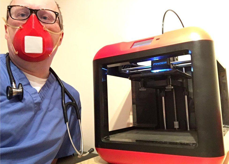 3d printer and mask