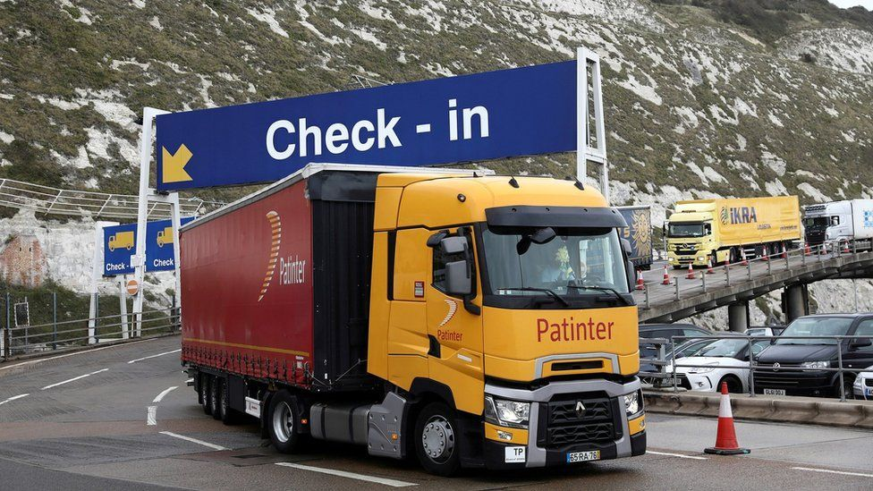 Lorry at port