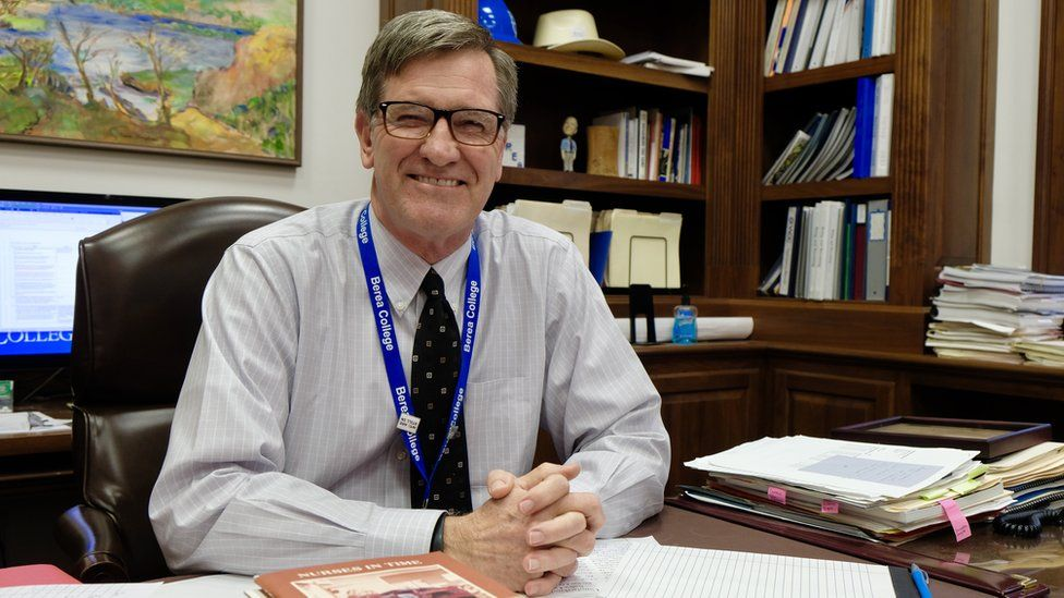 Berea College President Lyle Roelofs