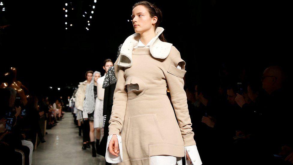 Burberry catwalk at London Fashion Week, February 2017