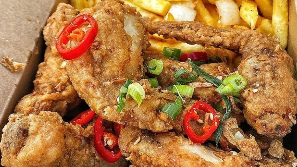 Chicken meal from Peck and Yard