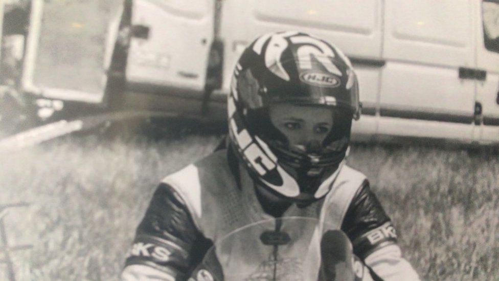 Sophie Collins in racing gear