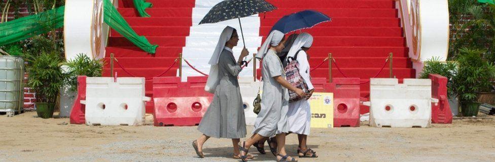 Nuns in Yangon