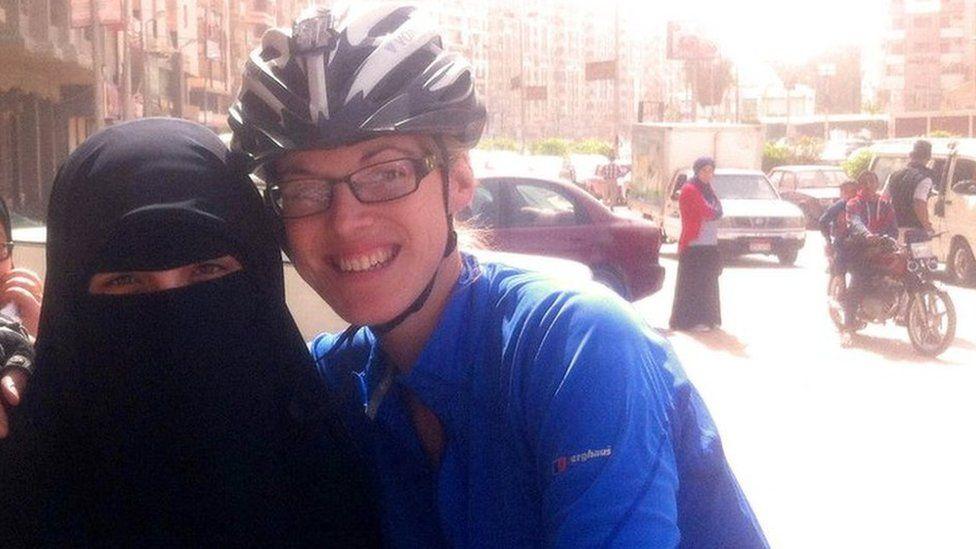 Rebecca meets an Egyptian named Aisha Adham