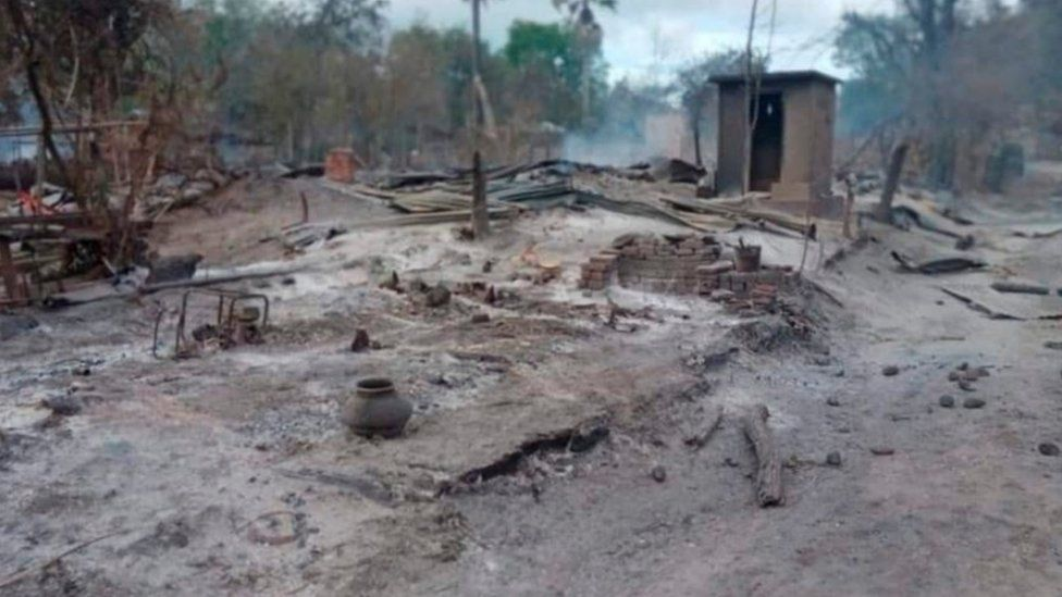 Kin Ma village after the fire
