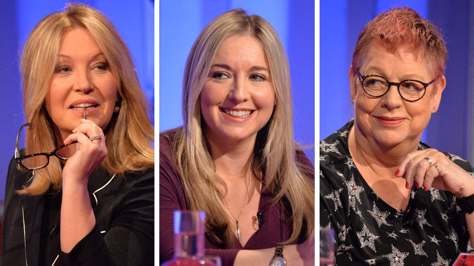 Left-right: Kirsty Young, Victoria Coren Mitchell and Jo Brand