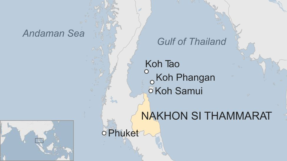 Thailand Pabuk: Tourist islands hit by worst storm in decades - BBC on koh lanta thailand, koh samed thailand map, koh kood thailand map, koh phi phi thailand map, bophut thailand map, chiang mai thailand map, koh kut thailand map, cha-am thailand map, krabi thailand map, ancient china han empire map, kuala lumpur thailand map, koh nang yuan thailand map, nakhon phanom thailand map, suratthani thailand map, satun thailand map, pattaya thailand map, mae sai thailand map, pee pee island thailand map, koh kradan thailand map, cebu taoist temple map,