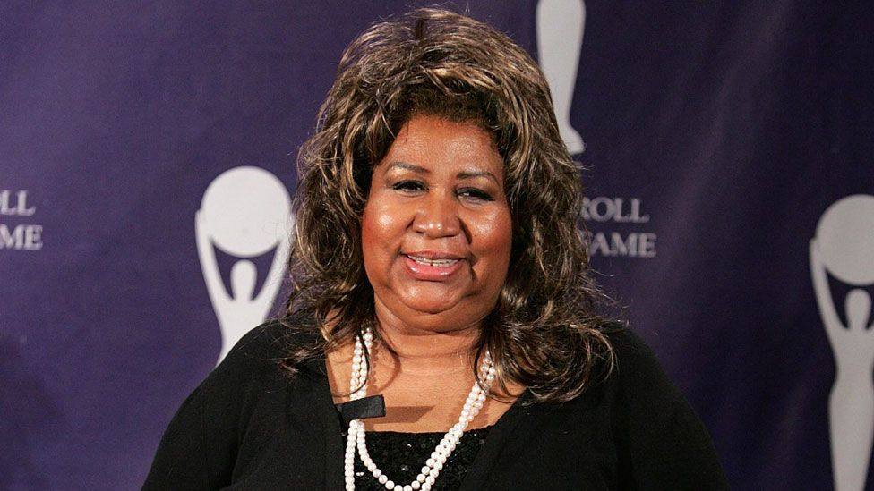 Aretha Franklin at the Rock and Roll Hall of Fame induction ceremony in March 2007